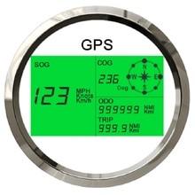 Nuovo 7 Back luci 85 millimetri Barca Auto GPS Tachimetro Digitale LCD Misuratore di Velocità Contachilometri Corso con Antenna GPS