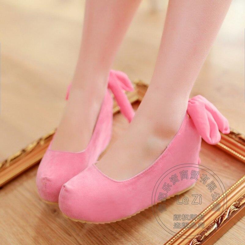 Platform Back Lace Up Increased Internal font b Women b font Wedge Shoes High Hidden Heel
