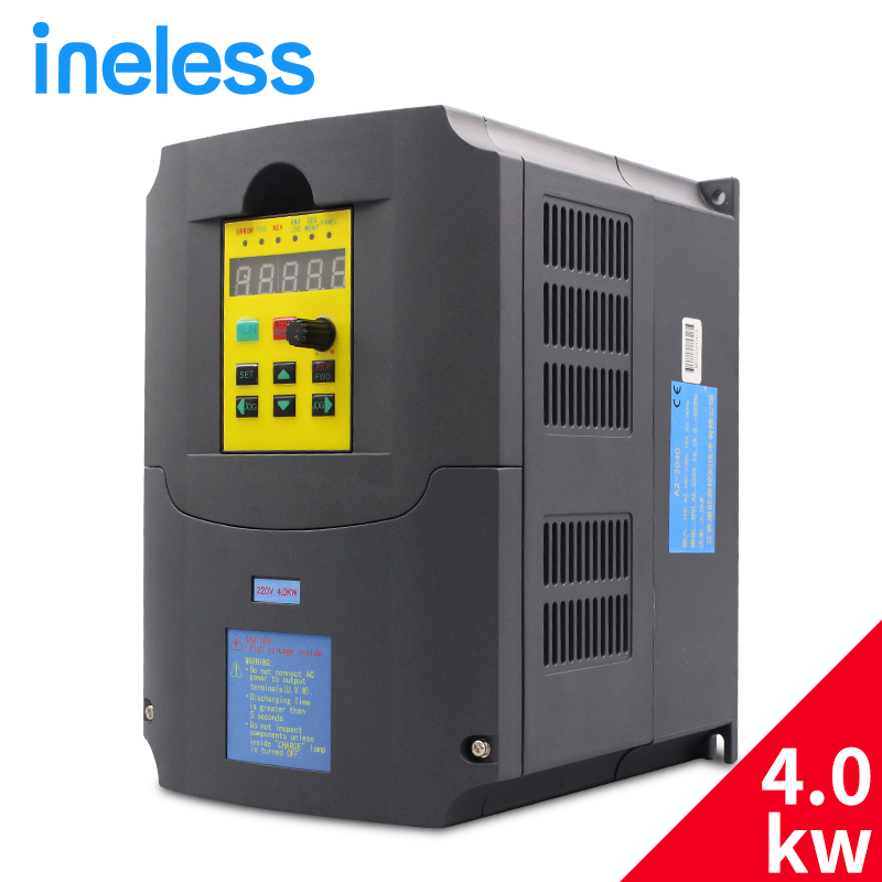 220v 4kw Frequency Inverter 1 phase input and 220v 3 phase output frequency converter/ac motor drive/ ac drive/ VSD/ VFD/50H vfd110cp43b 21 delta vfd cp2000 vfd inverter frequency converter 11kw 15hp 3ph ac380 480v 600hz fan and water pump