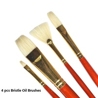 WINSOR&NEWTON Artist special bristle Paintbrushes oil Acrylic paint brushes painting supplies 4pcs/set