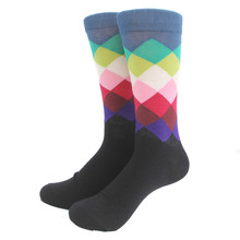 Men's Cotton Gradient Color Long Socks