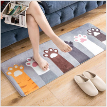 Cute Cartoon Floor Mat Entry Carpet Kitchen Rectangle Bathroom Absorbent Bedroom Area Rug Entrance