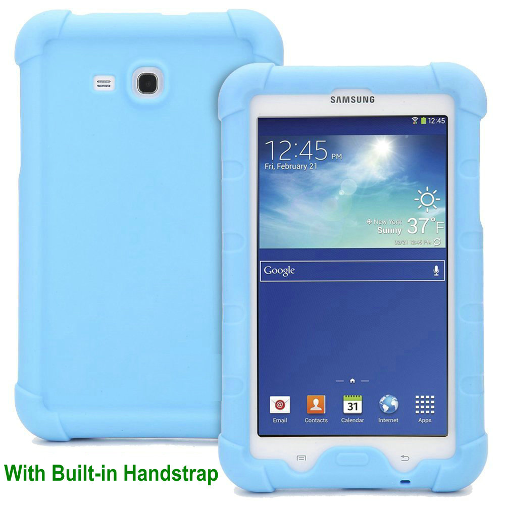 MingShore Rugged Silicone Case For Samsung Galaxy Tab E Lite 7.0 T116 Shockproof Cover For Galaxy Tab 4 3 Lite 7.0 T113 Tablet pannovo silicone shockproof fallproof dustproof case for samsung galaxy note 3 camouflage green
