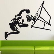 Free shiping diy home decor sticker Basketball Dunk Sport Wall Art Decal Vinyl removable wall Sticker pvc Mural Decor