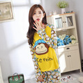 Новая Мода 2016 Лето пижамы Установить Ночной с коротким рукавом любителей мультфильмов домашней одежды пары соответствие взрослых миньон пижамы наборы