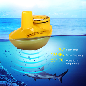 Image 2 - Russian Menu!!!Lucky FFW718 Wireless Portable Fish Finder Black Grey Color Optional