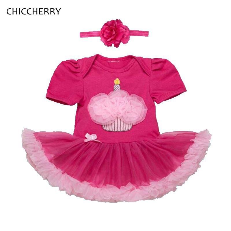 7113a7390 ̿̿̿(•̪ )De pastel de 1 y 2 años cumpleaños vestido de Tutu pijama ...