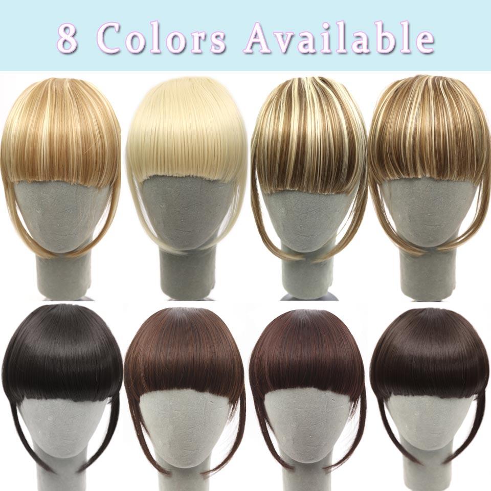 Haarteile Yelo Malaysische Mode Menschliches Clip Haar Extensions Kurze Vordere Pony Fransen Remy Haar 6 Farbe Stil Ein Stück Freies Verschiffen Bangs