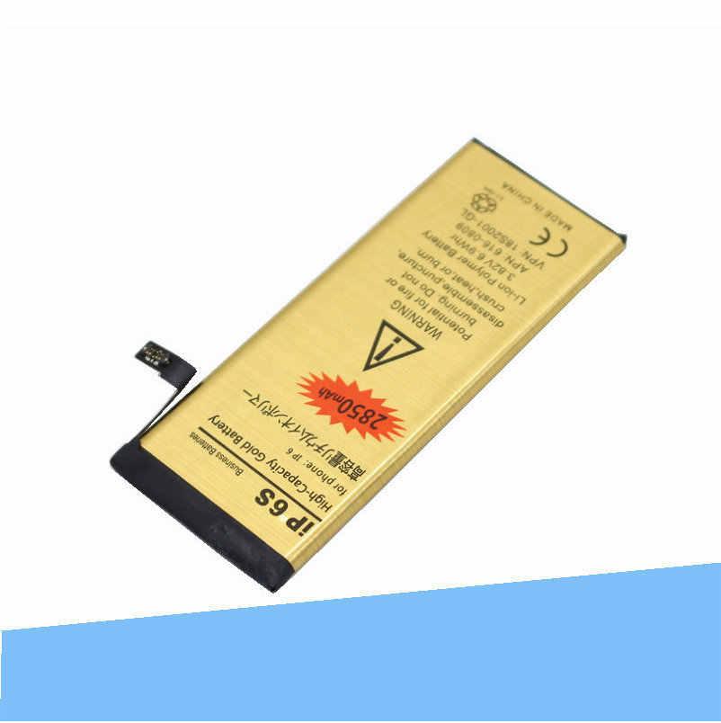 ISkyamS 1x2850 mAh 0 ноль запчасть для велосипеда Золотой Литий-полимерный аккумулятор для iPhone 6S 6 S аккумуляторы