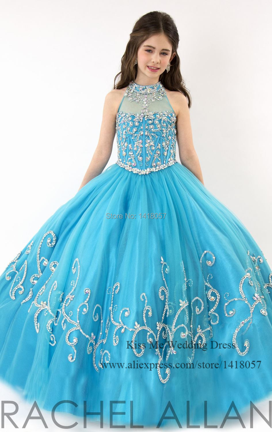 2015 Beautiful Turquoise First Communion Dresses Designer Flower ...