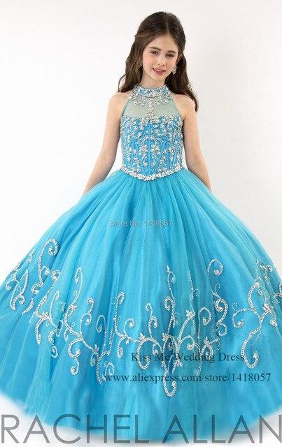 495af33b3 2015 hermoso color turquesa vestidos primera comunión diseñador flor chica  vestidos vestido de bola cristal niños
