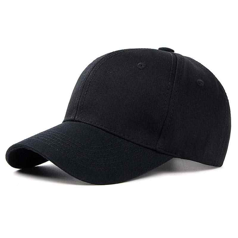 7ddf83837433b ... Classic Cotton Dad Hat Plain Cap Low Profile Baseball Cap for Men Women  Adjustable Size Black ...