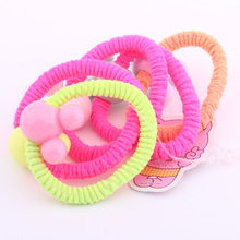 2019 New arrival fashion hair band for girls multi colors mickey charm lots elastic bands summer rubber kids 5pcs
