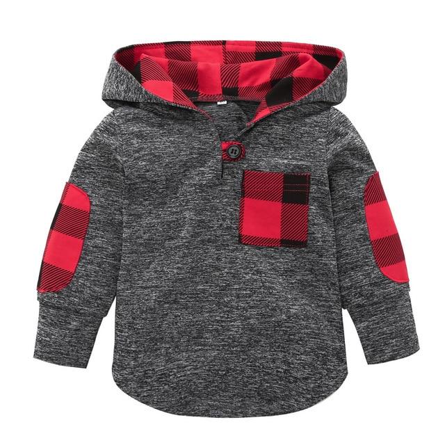 a09d87b42 2018 otoño ropa de abrigo niños bebé abrigos suéter Camisa de algodón a  cuadros de manga
