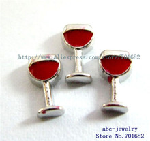 attractive charms high quatity 50pcs fc600 romantic charms wine glass for living memory floating locket as - Floating Wine Glass