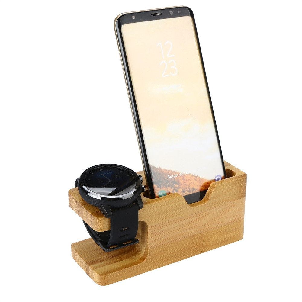 Stylish Charging Station Us 8 66 5 Off Stylish Delicate Long Life Span Bamboo Charging Station Stand Dock Multi Device Organizer For Iphone 810 In Mobile Phone Holders