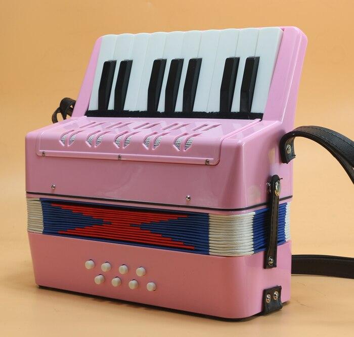8 basse 17 touches enfants accordéon avec des airs de tutoriel petit clavier accordéon Instrument de musique pour l'enseignement de la petite enfance