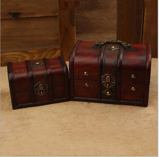 2pcs/set Chic Wooden Pirate Jewellery Storage Box Case Holder Vintage Treasure  Chest In Storage Boxes U0026 Bins From Home U0026 Garden On Aliexpress.com |  Alibaba ...