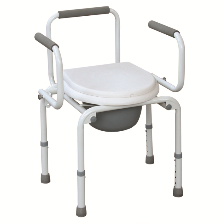 drop arm commode chair  Powder Coated Steel Drop Arm Commode Chair With Adjustable Height manager arm chair height adjustable