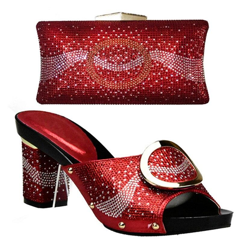Zapato Set Y oro Boda Conjuntos plata Italiano Bolsa Matching rojo Negro amarillo Africana De Mujeres Bolso Sandalia naranja Zapatos Italia Nuevo qPXaA