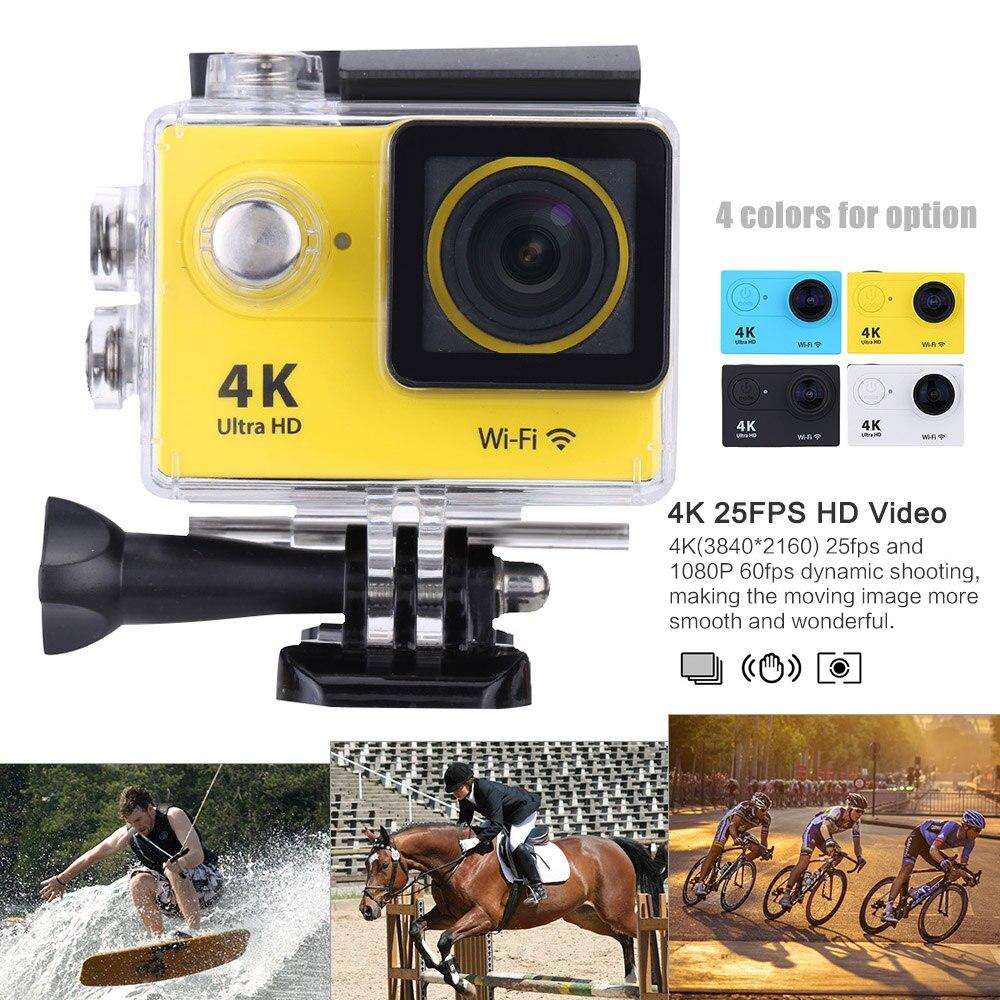 4Pcs/Lot, DHL Free Shipping H9se Action Camera Real 4K 25fps WiFi Cam1080P/60fps 2.0 LCD Helmet Cam 30M Waterproof Sport Camera sport elite se 2450