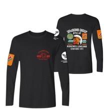 Luckyfridayf летом прилив футболка West Coast панк череп печати мотоциклов татуировки половина рукав хип-хоп мужские футболка с длинными рукавами