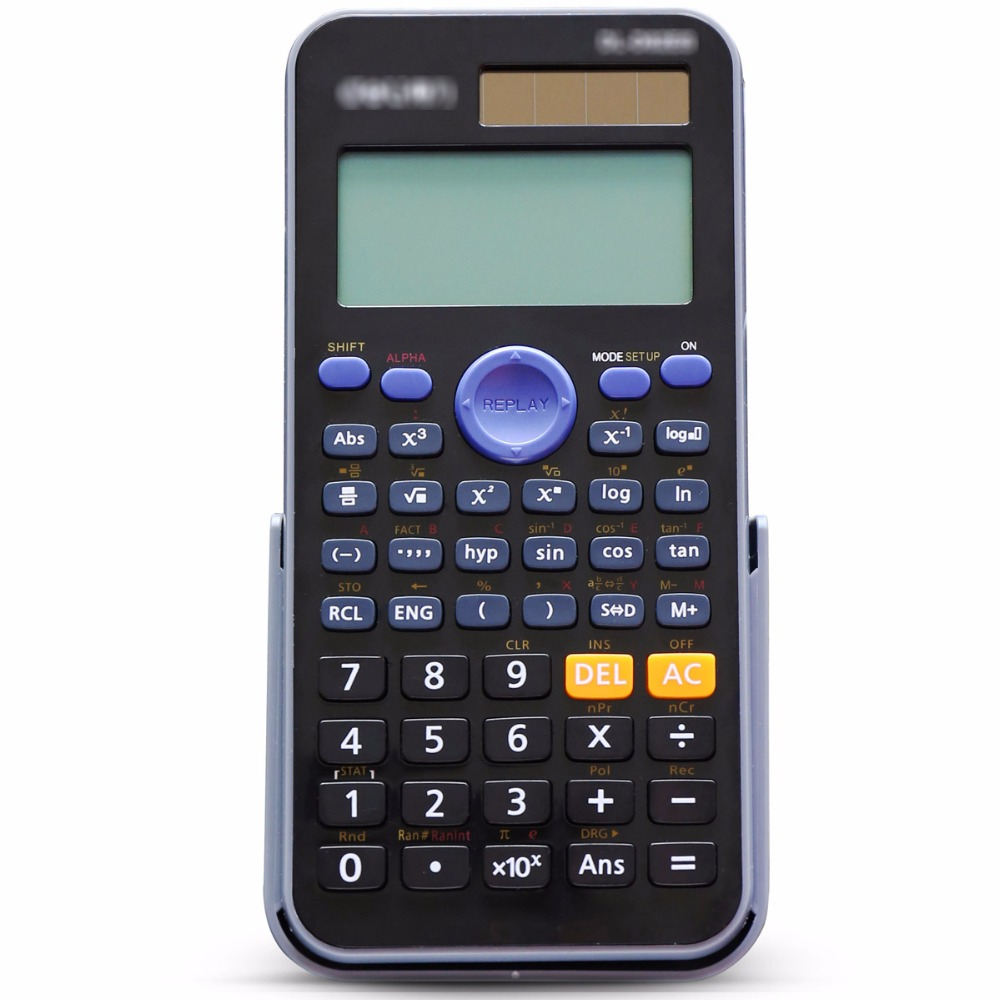 Genuine Desktop Dual Power 252 Kinds Function Scientific Calculator Solar+Battery Power 12 Digital 2-Line LCD Display