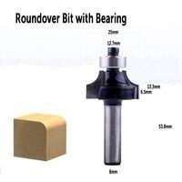 shank כלים 3Pc 8mm Shank נתב ביטים סט הרומית Roundover Bit קוב Bit ogee Bit עם מסב לקבלת כלים לעיבוד עץ (4)