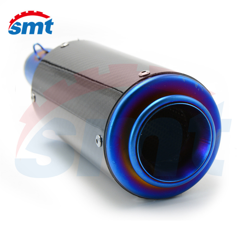 motorcycle accessories motorcycle muffler carbon fiber 50mm exhaust pipe For Yamaha YZF-R1  2004/2008/2009/2010/2011/2012/2013