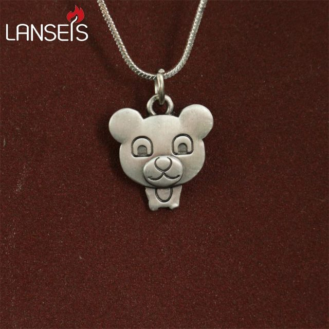 1pcs wholesale cartoon teddy bear necklace pendants for women 1pcs wholesale cartoon teddy bear necklace pendants for women necklace animal jewelry simple summer necklaces gift aloadofball Images