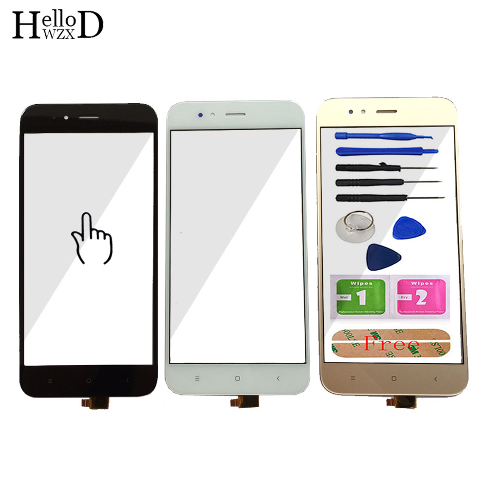 5.5'' Mobile Phone For Xiaomi Mi A1 MiA1 MDG2 Touch Glass Screen Digitizer Panel Front Glass Lens Sensor Tools Free Adhesive