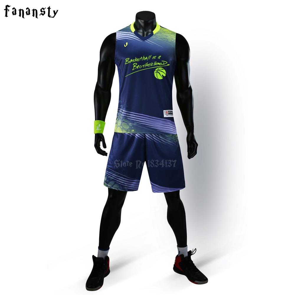 Us 24 8 High Quality Sports Wear Men Custom Basketball Uniforms Set Adult Basketball Jerseys Running Kits Plus Size Eu 4xl In Basketball Jerseys