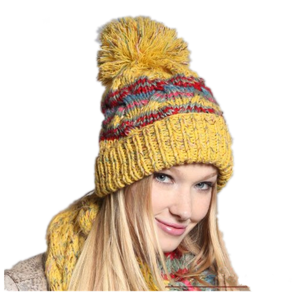 3feb6102e41 Holiday Sale New Arrival Women Lady s Fashion Beanie Hat Hand Knitted  Winter Hat Mustard Yellow Hot Promotion 1240-40