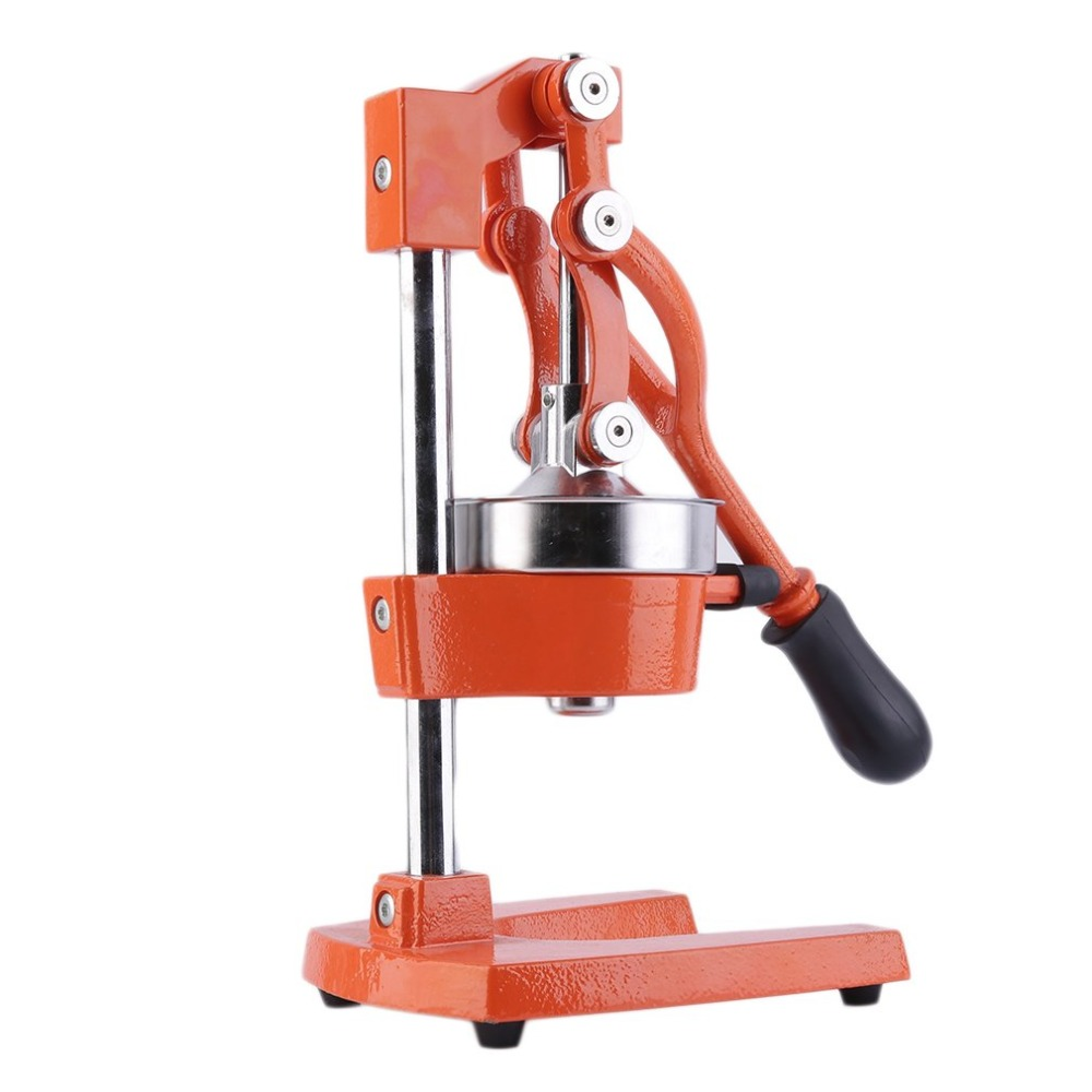 Orange Heavy Cast Iron and Rubber Handle Hand Press Commercial Manual Citrus Fruit Lemon Juicer Juice Squeezer J25C28 fruit orange lemon opener peeler zester citrus fruit skin remover finger type