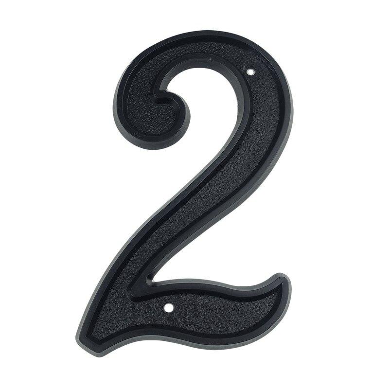 Big House Number 139mm Height Door Address Number Digits ABS Plastic Black House Door Address Sign 5-1/2 Inch. #2