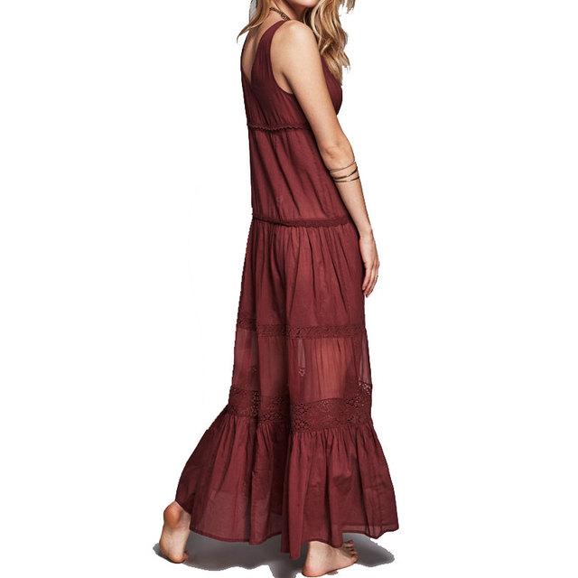 Lace Dress Europe V collar Off Shoulder Princess Sexy Long Boho Beach Dresses Elegant Popular Slim Maxi Holiday Vesitods S-XL