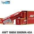 4 PCS Recarregável 18650 AWT Bateria Cigarros Eletrônicos 3000 Mah 40A Caixa de Bateria AA Para O E-Cigarros Vape Mod Vape Vaporizador 40A