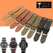 20/22mm Cow Leather Calfskin Genuine Watchband For Hamilton Khaki for Breitling Zenith Belt Watch Strap Bracelets Replacement все цены