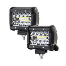 2pcs 12V Led Work Light Bar 4 Inch 60W 9-32V 6000K Combo for Lada 4×4 SUV ATV UTV Truck Trailer Boat 4×4 Motor Pickup Jeep fog