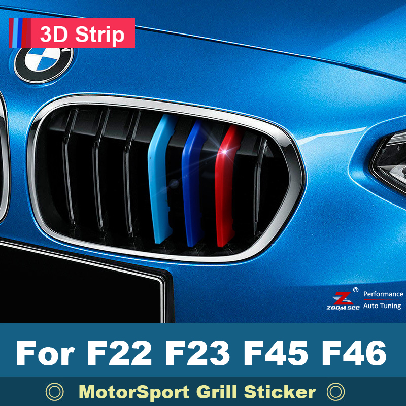For BMW 2 series F22 F33 F45 F46 216i 218i 220i 225i 228i Car Front Grille Stripes Grill M Motorsport Strips Performance Sticker
