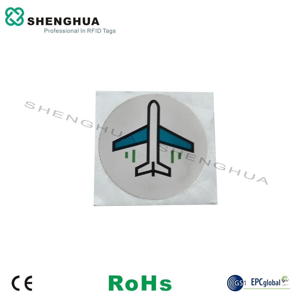 6pcs/pack Hot Sale Passive 13.56MHz HF RFID Label NFC Tag Sticker Diam25mm Waterproof Rewritable Label