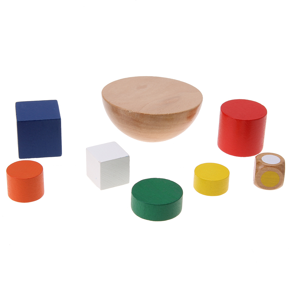Baby Toys Wooden Geometric Building Blocks Boys Girls Balancing Game Toy DIY Child Learning Educational Toys For Children Gift