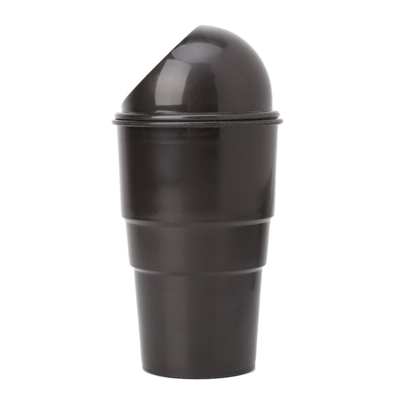 Black Plastic Cover Car Ashtray Trash Bin Garbage Container