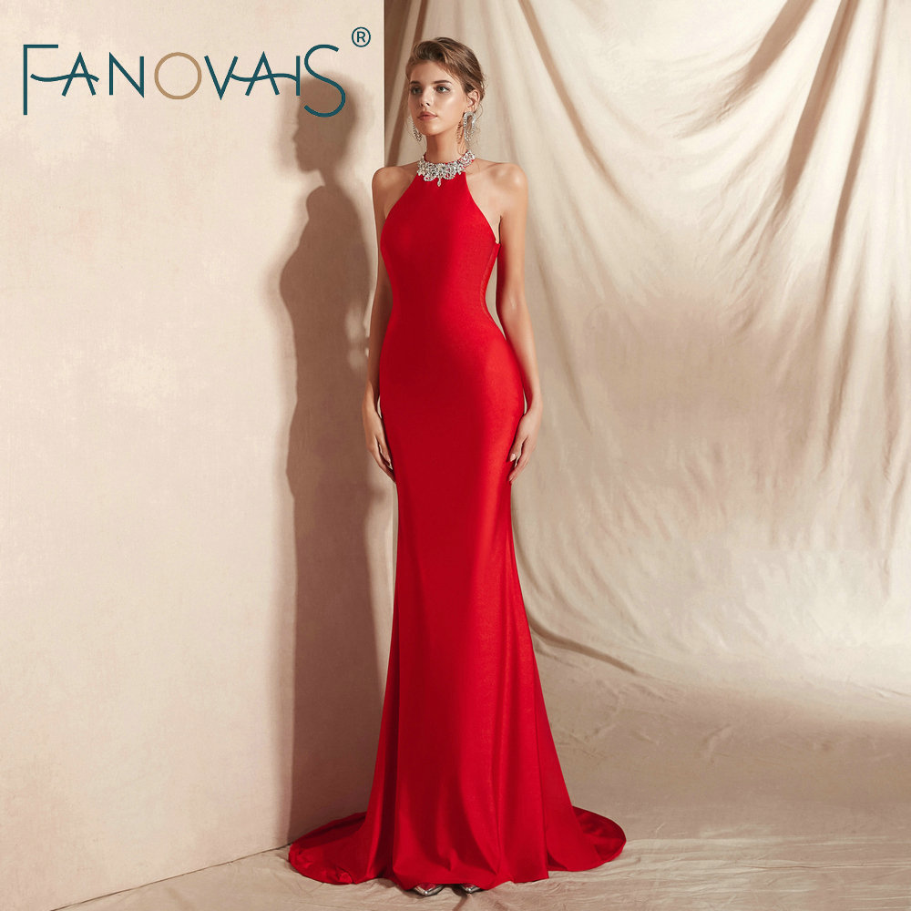Red Evening   Dresses   Long Elegant   Prom     Dress   2019 Vestidos De Fiesta Largos   Dress   Party Plus Size avondjurk robe de soiree longue