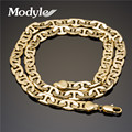 Modyle 2016 New Luxury Gold Plated 9mm Thickness Chain Gold Necklace for man Punk Statement Necklace