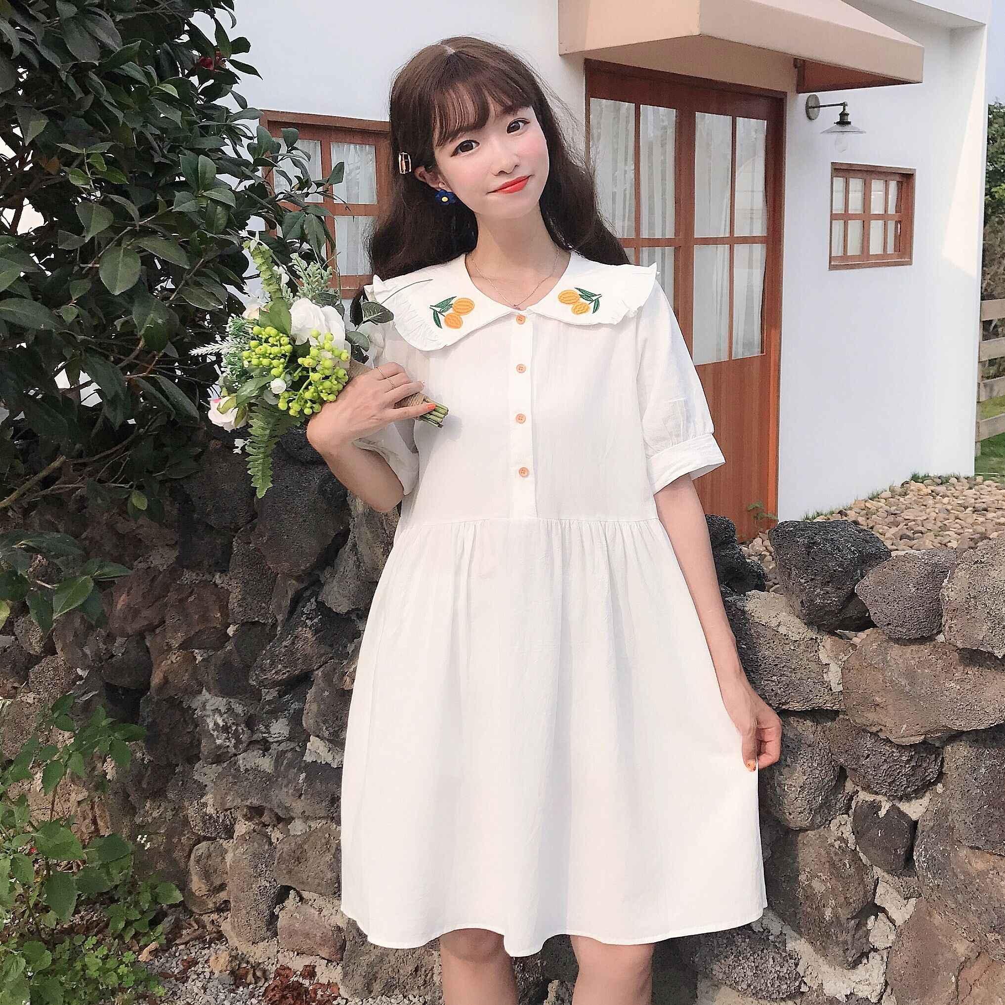 2019 летние женские мягкие японские игрушки милое детское свободное платье с принтом