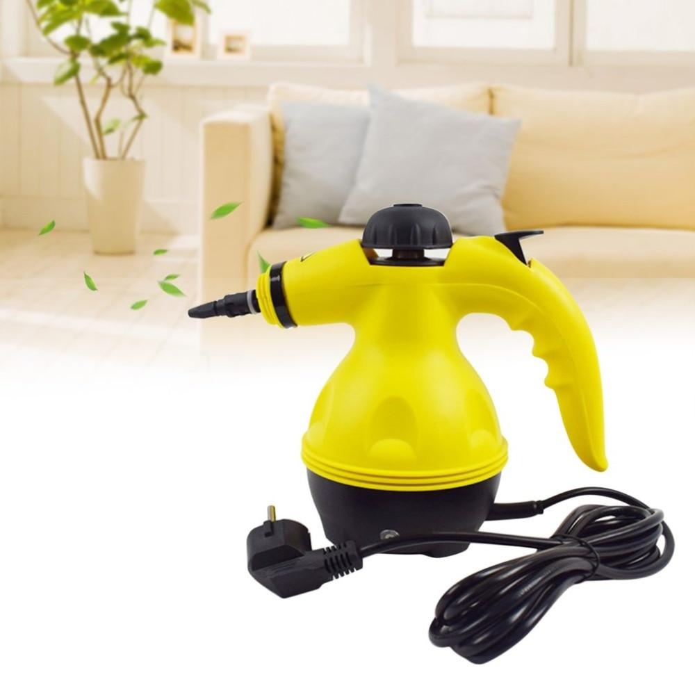 Multi Purpose Handheld Steam Bottle Kit Cleaner 220V-240V 1000W Portable Steamer Attachments Kitchen Brush Tool EU plug luomu multi color 220v eu plug