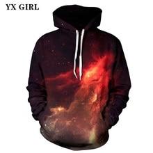 2018 NEW Regular Autumn Spring Sweatshirt Women Men 3d Universe Galaxy Hoodies Pullover Unisex Casual Hoodies Drop Shipping