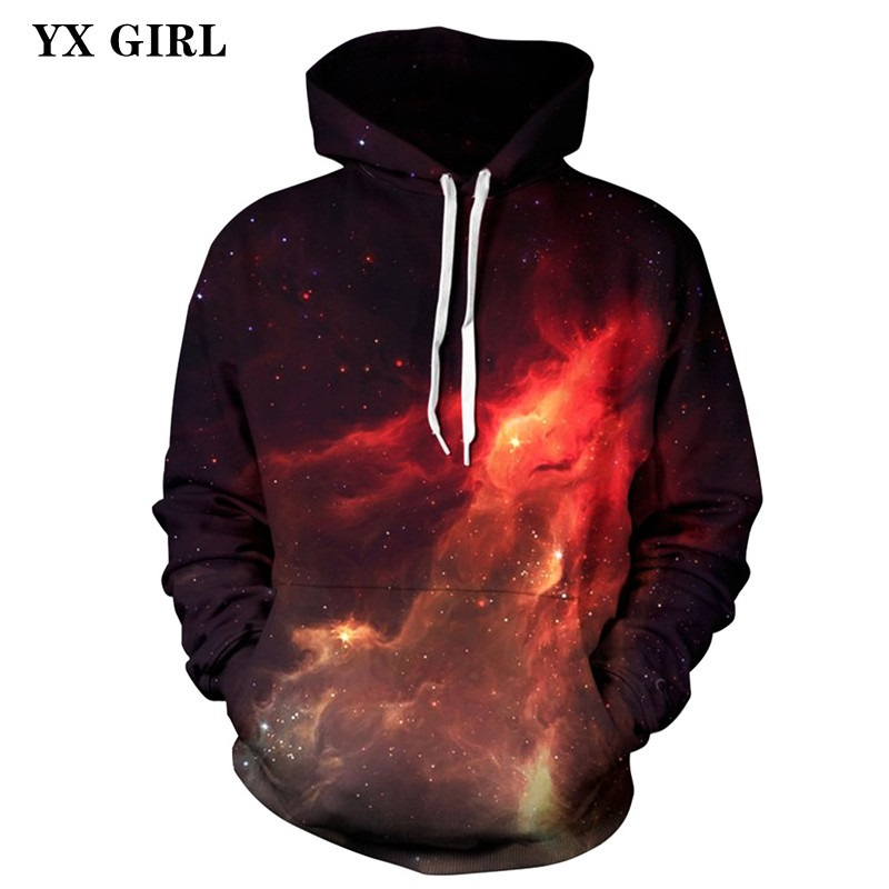 2018 NEW Regular Autumn Spring Sweatshirts Women Men 3d Universe Galaxy Hoodies Pullovers Unisex Casual Hoodies Drop Shipping