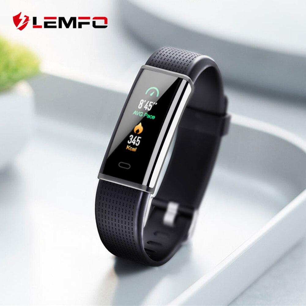 LEMFO 2018 Nova Banda 2 Atividade Rastreador Inteligente Para Iphone Huawei Xiaomi Mi Android Phone Wristba Como Monitor de Freqüência Cardíaca relógio